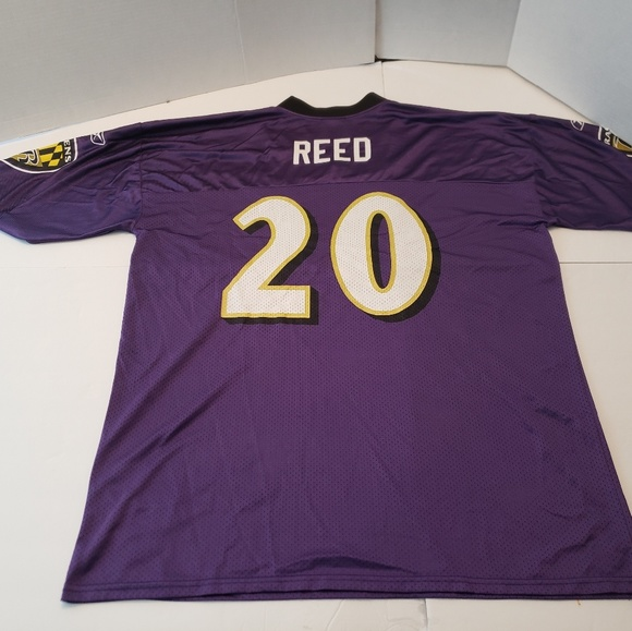 newest 34e52 a572f Reebok Ed Reed Baltimore Ravens #20 Jersey Mens Ad
